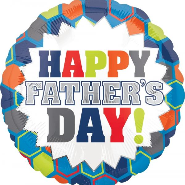 "Mylar - 18"" - Happy Father's Day"
