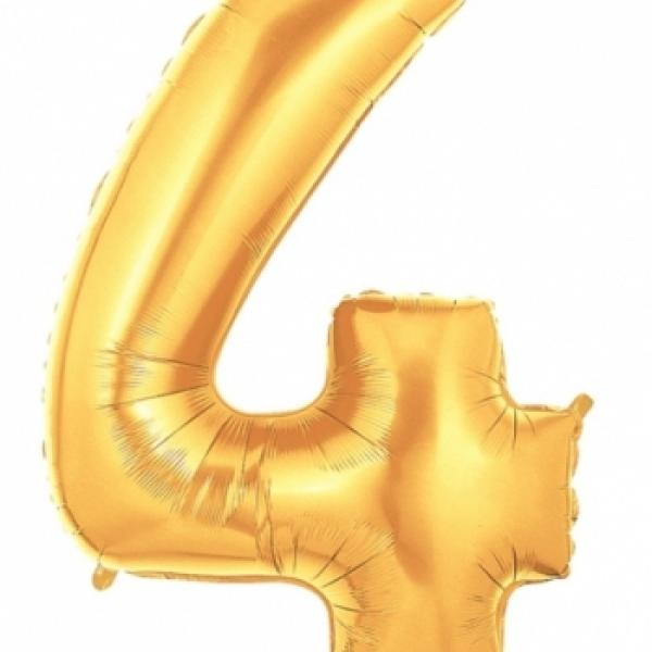 "Mylar - 40"" - Gold Number - #4"