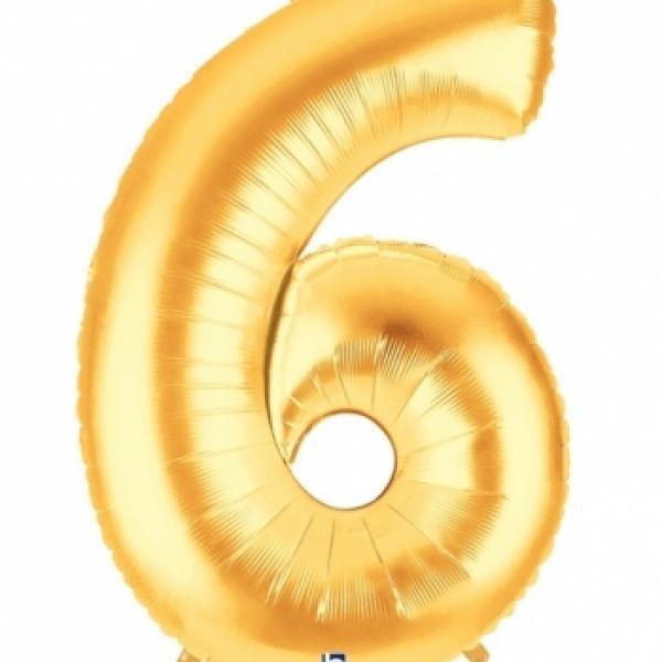 """40"""" Mylar - Gold - 6"""