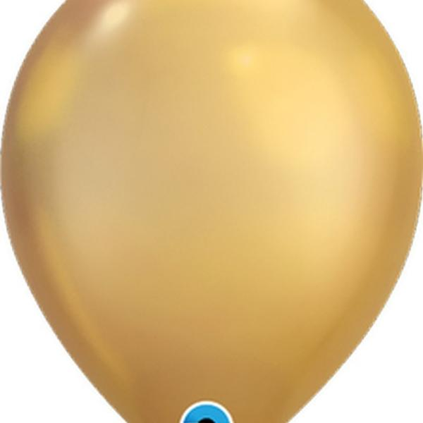 "Balloon - 11"" Latex - Chrome Gold"