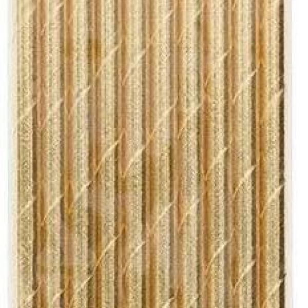 Paper Straws - Gold Metallic