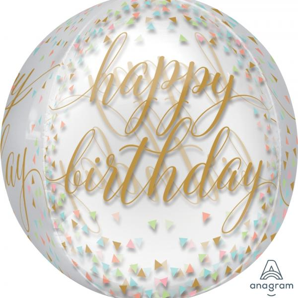 Orb - Happy Birthday Pastel Confetti