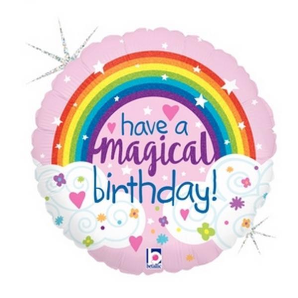 "Mylar - 18"" - Have a Magical Birthday"