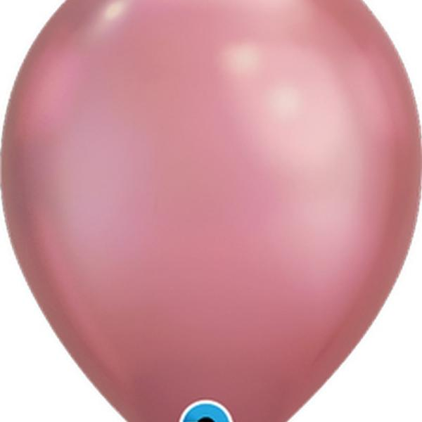 "Balloon - 11"" Latex - Chrome Mauve"