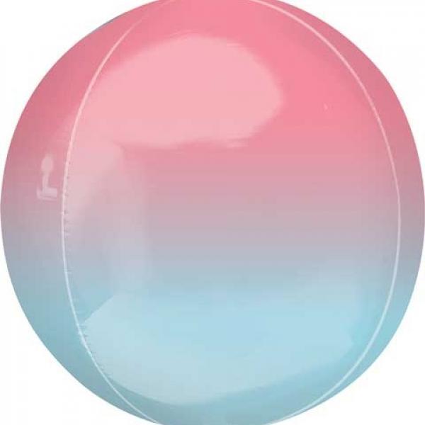 "Ombre Orbz - Pink & Blue 16"""