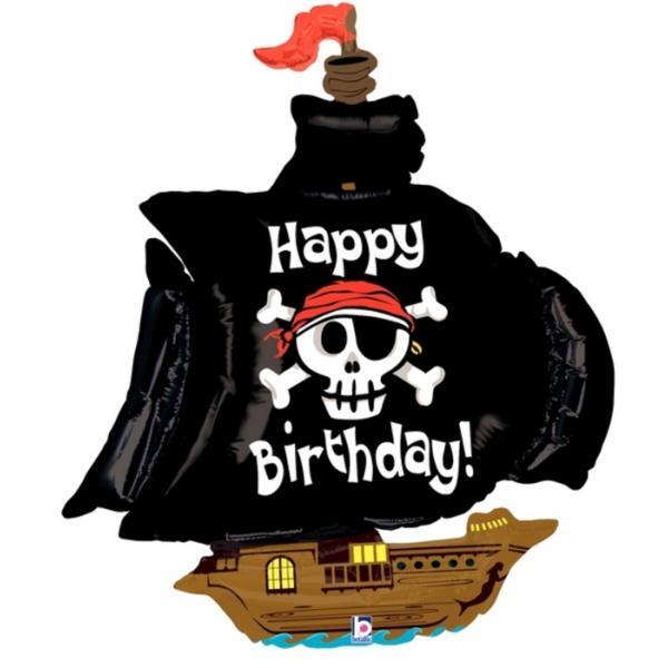 Mylar - Pirate Ship Birthday