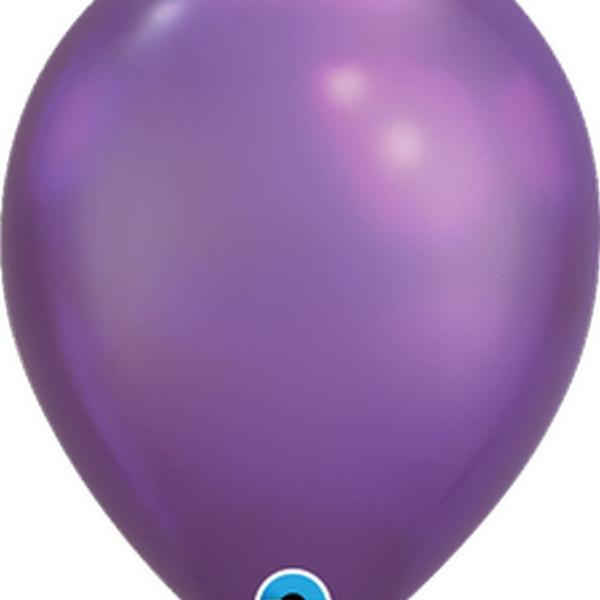 "Balloon - 11"" Latex - Chrome Purple"