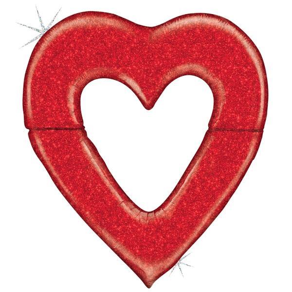 Mylar - Jumbo Red Heart