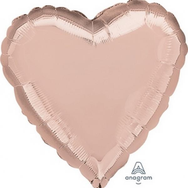"Mylar 18"" - Rose Gold Heart"