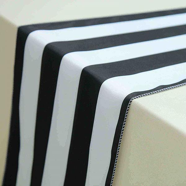 Table Runner - Striped - Black & White