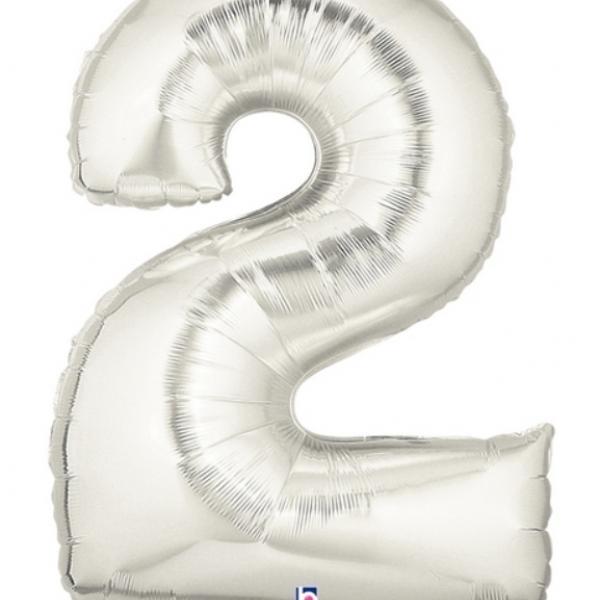"Mylar - 40"" - Silver Number - #2"