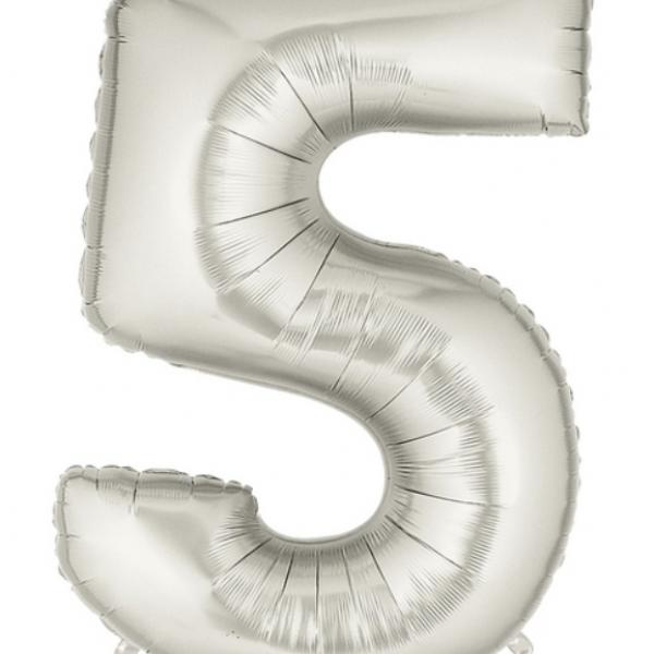 "Mylar - 40"" - Silver Number - #5"