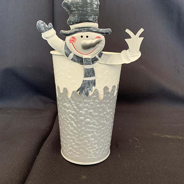 Snowman Pot