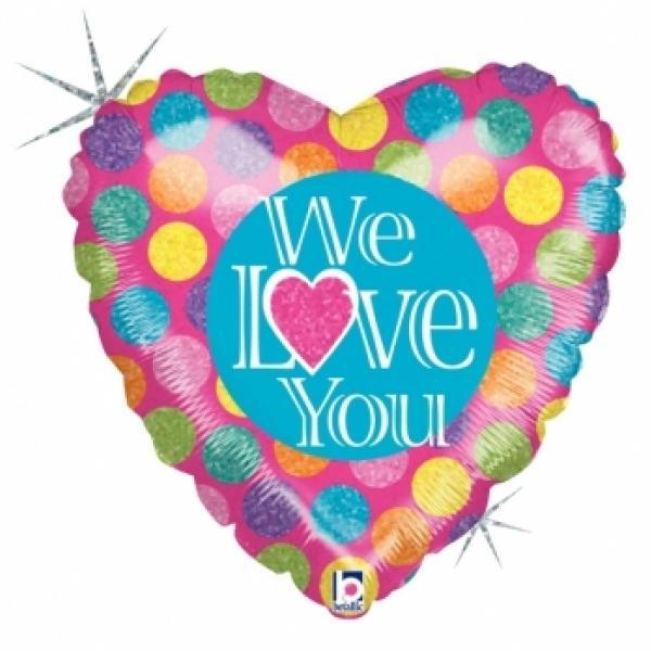 "Mylar - 18"" - We Love You"