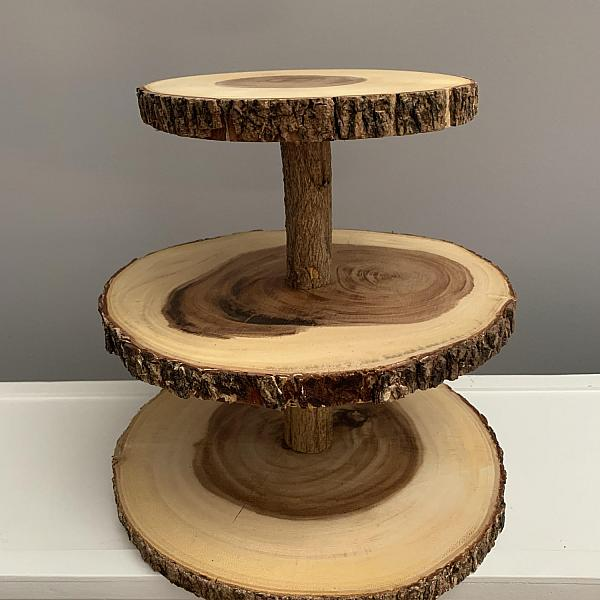 "Stand Wood - 3 tiers 9"", 12""and 14"""